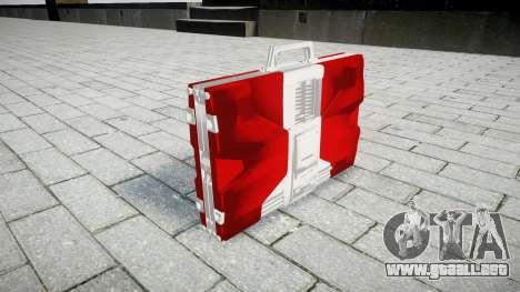 Iron Man Mark V Briefcase para GTA 4 segundos de pantalla