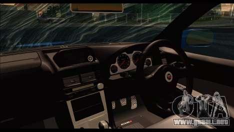 Nissan Skyline R-34 para GTA San Andreas vista posterior izquierda