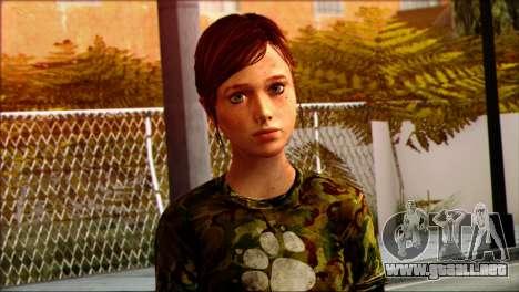 Ellie from The Last Of Us v3 para GTA San Andreas tercera pantalla