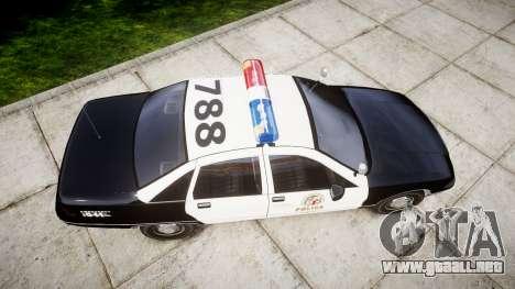 Chevrolet Caprice 1991 LAPD [ELS] Patrol para GTA 4 visión correcta