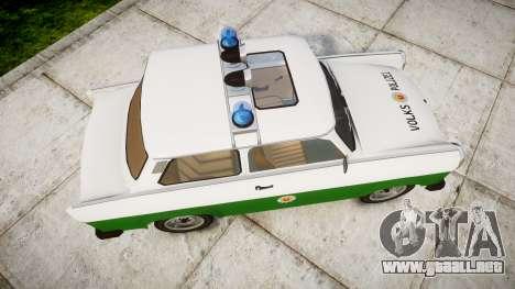 Trabant 601 deluxe 1981 Police para GTA 4 visión correcta
