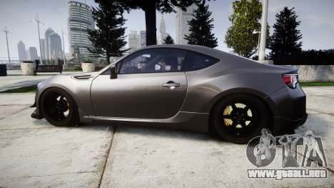 Subaru BRZ 2011 para GTA 4 left