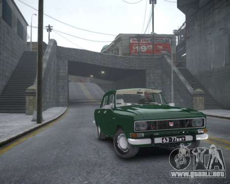 AZLK 2140 para GTA 4 Vista posterior izquierda