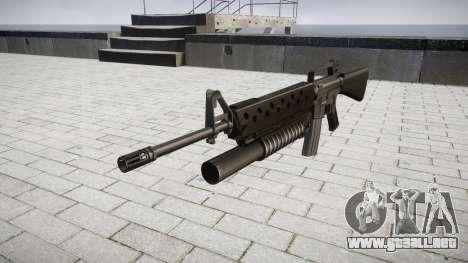 Rifle M16A2 M203 sight3 para GTA 4
