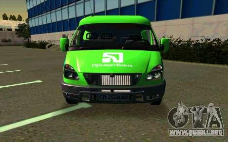 Gacela 2705 PrivatBank para GTA San Andreas left