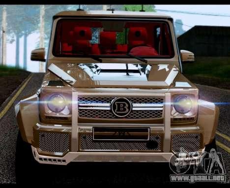 BRABUS 700 - Mercedes-Benz G63 AMG 6x6 para GTA San Andreas vista posterior izquierda
