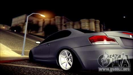 BMW 135i para vista inferior GTA San Andreas
