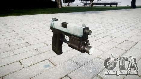 La pistola HK USP 45 de hielo para GTA 4