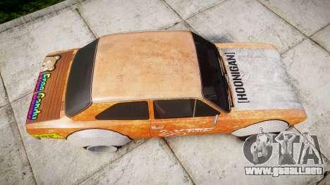 Ford Escort Mk1 Rust Rod v2.0 para GTA 4 visión correcta