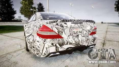 Mersedes-Benz SL65 AMG 2009 Sharpie para GTA 4 Vista posterior izquierda