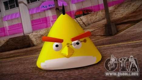Yellow Bird from Angry Birds para GTA San Andreas tercera pantalla