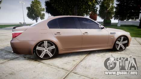 BMW M5 E60 v2.0 Wald rims para GTA 4 left