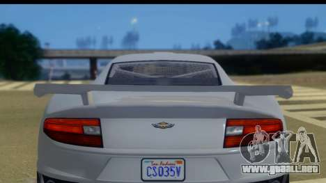 GTA 5 Dewbauchee Massacro IVF para GTA San Andreas vista posterior izquierda