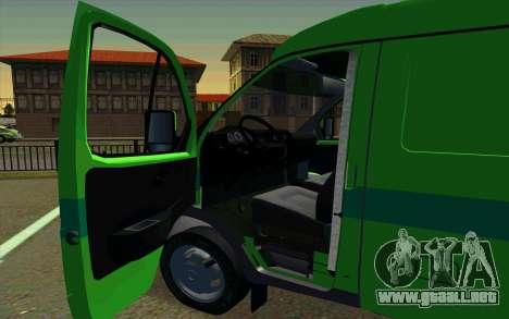 Gacela 2705 PrivatBank para GTA San Andreas vista posterior izquierda
