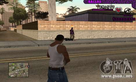 Ballas C-HUD para GTA San Andreas
