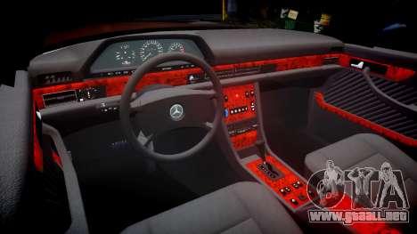 Mercedes-Benz 560SEL W126 para GTA 4 vista interior