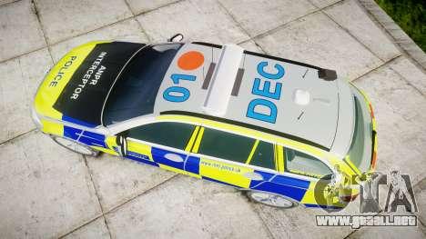 BMW 525d F11 2014 Police [ELS] para GTA 4 visión correcta