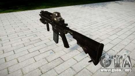 El HK416 rifle Táctico de destino para GTA 4 segundos de pantalla