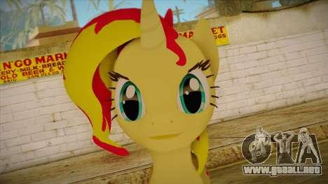 Summer Shimmer from My Little Pony para GTA San Andreas tercera pantalla