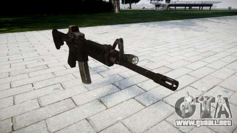 Tácticas de asalto M4 rifle Black Edition para GTA 4