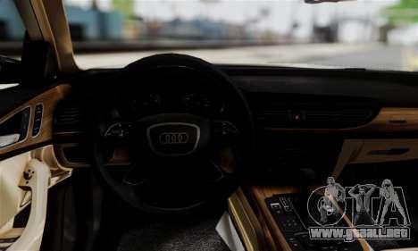 Audi A6 (C7) para GTA San Andreas vista posterior izquierda