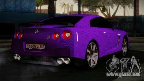 Nissan GTR-R35 para GTA San Andreas left