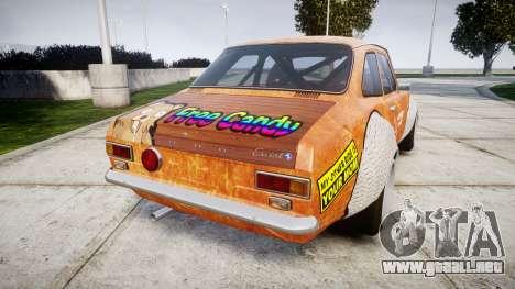 Ford Escort Mk1 Rust Rod v2.0 para GTA 4 Vista posterior izquierda