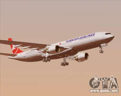 Airbus A330-300 Turkish Airlines para la vista superior GTA San Andreas