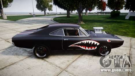 Dodge Charger RT 1970 Shark para GTA 4 left