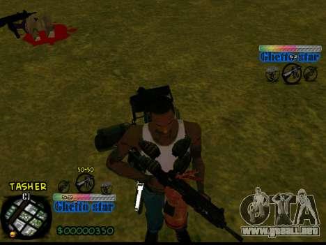 C-HUD Ghetto Star para GTA San Andreas segunda pantalla