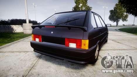 VAZ-2114 para GTA 4 Vista posterior izquierda