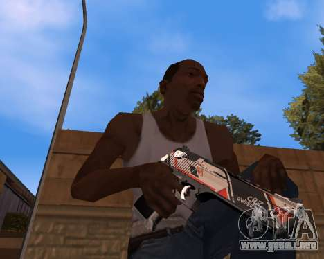 CS:GO Weapon pack Asiimov para GTA San Andreas segunda pantalla