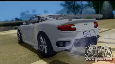 GTA 5 Dewbauchee Massacro IVF para GTA San Andreas left