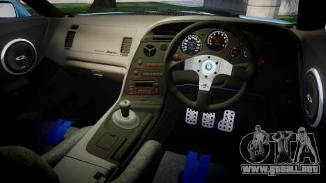 Toyota Supra 1998 Sharpie para GTA 4 vista interior