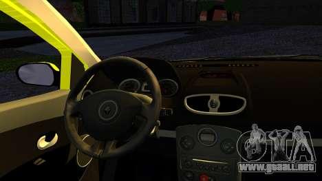Renault Clio para GTA San Andreas vista posterior izquierda