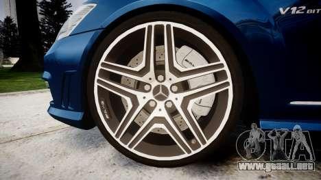 Mercedes-Benz S65 W221 AMG v2.0 rims2 para GTA 4 vista hacia atrás