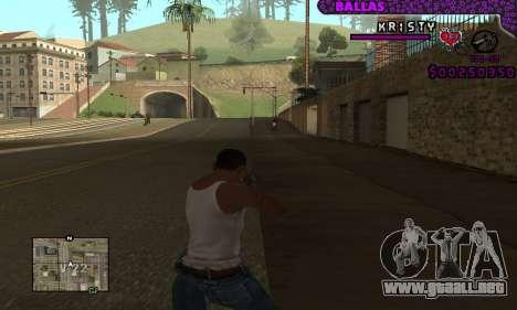 Ballas C-HUD para GTA San Andreas segunda pantalla