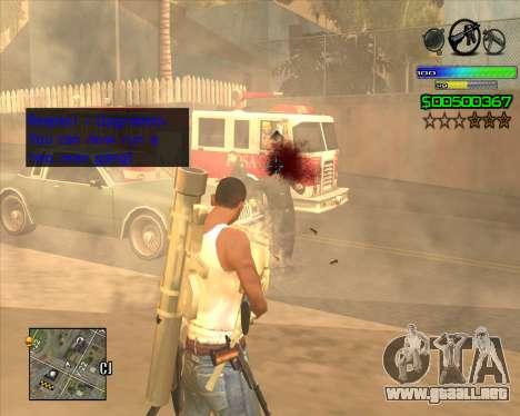 C-HUD Simple para GTA San Andreas segunda pantalla