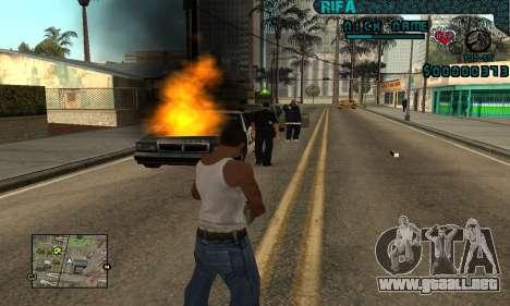 C-HUD Rifa Gang para GTA San Andreas sucesivamente de pantalla