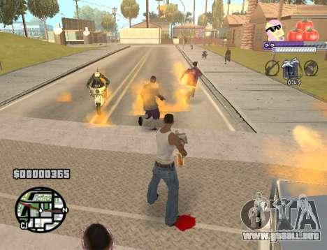 C-HUD Pony and Pomidors para GTA San Andreas sucesivamente de pantalla