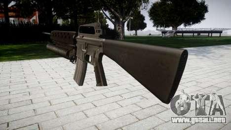 Rifle M16A2 M203 sight2 para GTA 4 segundos de pantalla