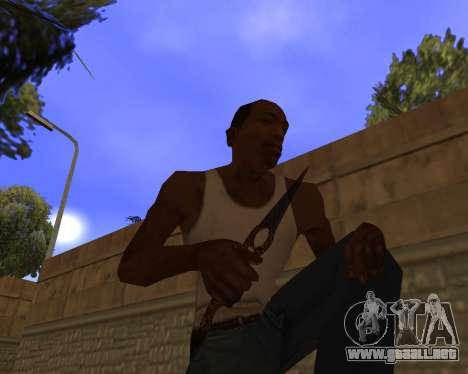 Jaguar Weapon pack para GTA San Andreas sexta pantalla