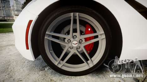 Chevrolet Corvette Stingray C7 2014 para GTA 4 vista hacia atrás