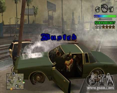 C-HUD Simple para GTA San Andreas quinta pantalla