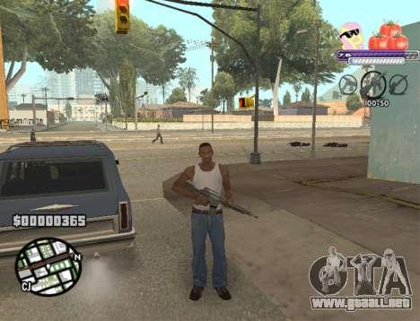C-HUD Pony and Pomidors para GTA San Andreas tercera pantalla