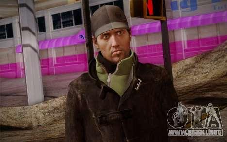 Aiden Pearce from Watch Dogs v8 para GTA San Andreas tercera pantalla