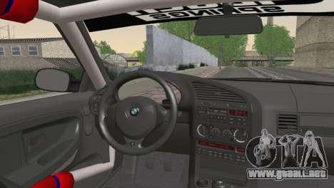 BMW M3 E36 Bridgestone v3 para GTA San Andreas vista posterior izquierda