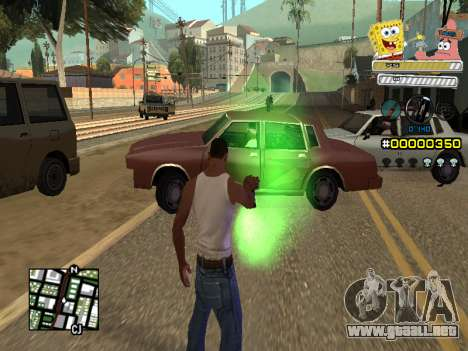 C-HUD Sponge Bob para GTA San Andreas quinta pantalla