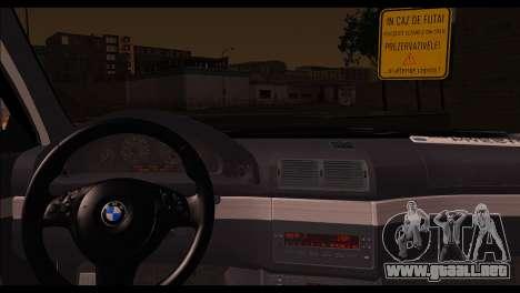 BMW 520d 2000 para GTA San Andreas vista posterior izquierda