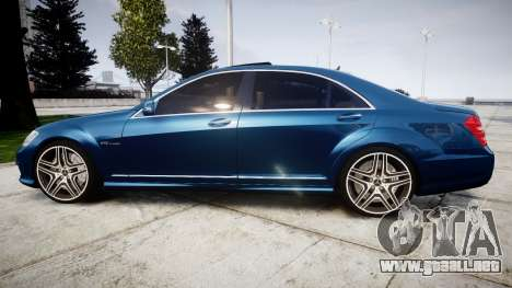 Mercedes-Benz S65 W221 AMG v2.0 rims2 para GTA 4 left